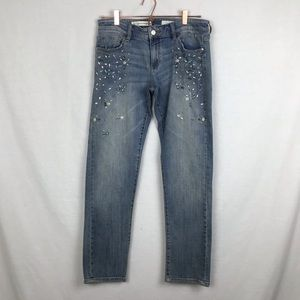 Pilcro and the Letterpress Hyphen bejeweled jeans